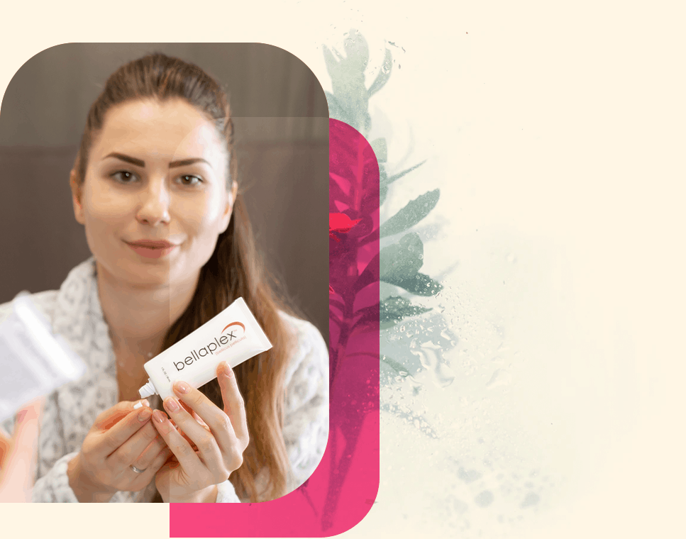 woman applying bellaplex for smoother skin